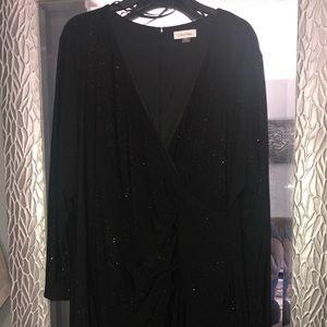 Black and sparkly black Calvin Klein dress.